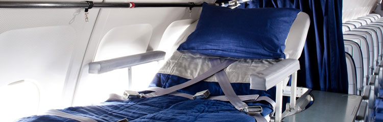 Patient transport compartment in Lufthansa-German Airlines