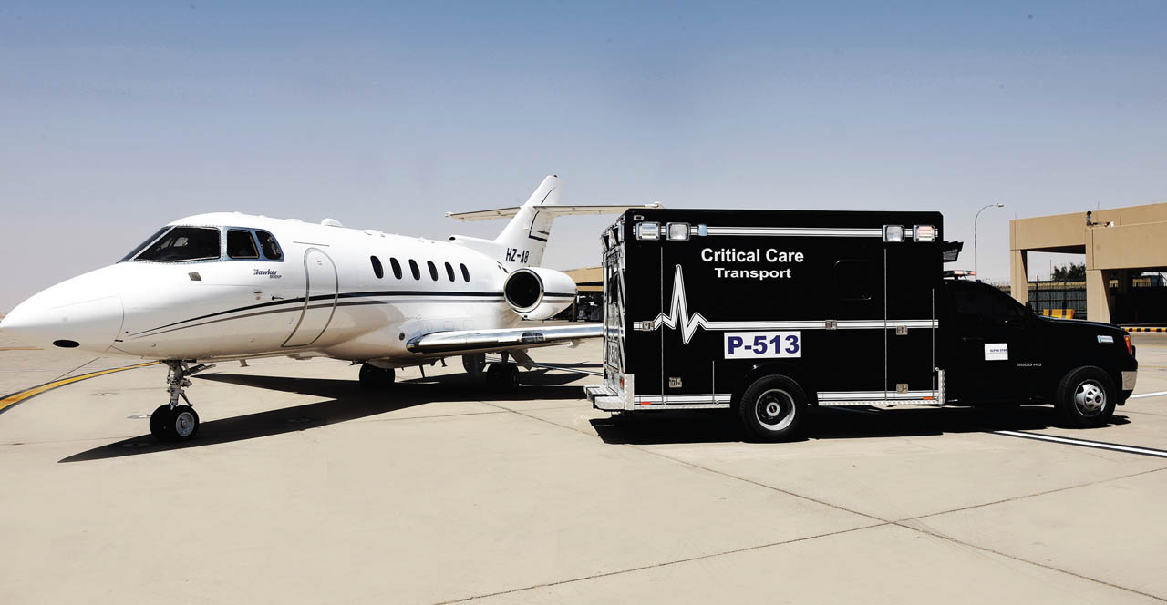 Need an Air Ambulance flight from Riyadh Saudi Arabia to the United States